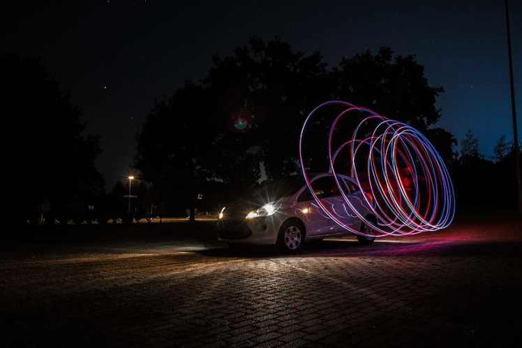 car-cars-light-painting